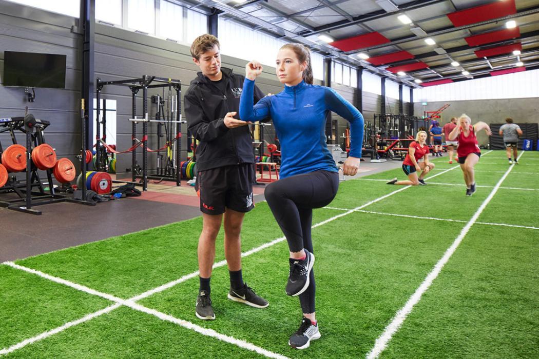 Sport Coaching indoor track hero shot