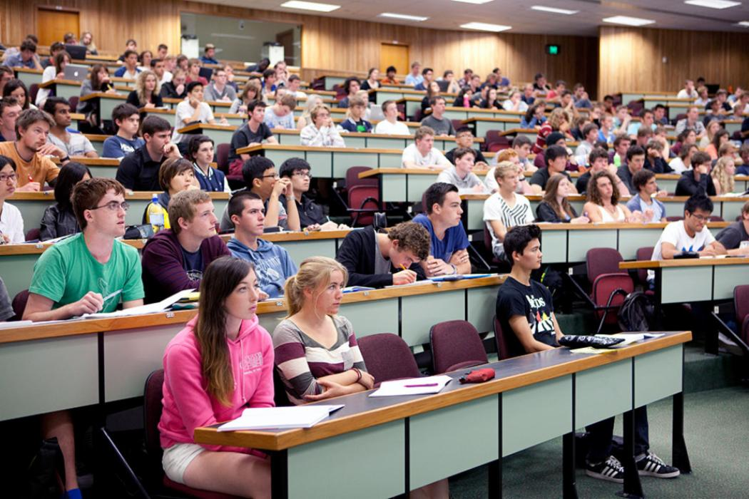 Students in lecture landscape