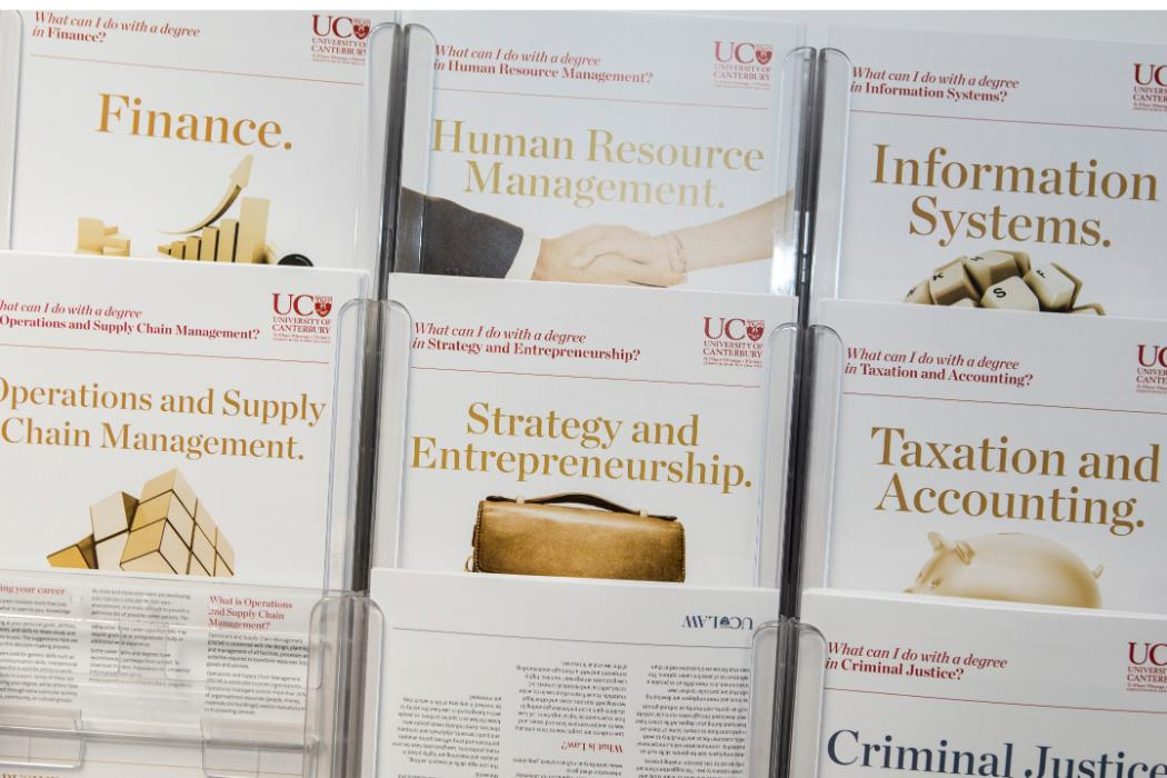 business brochures on display