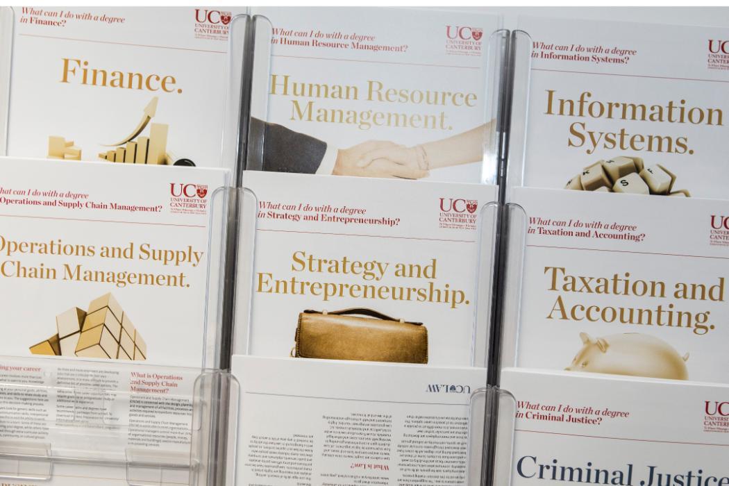 business brochures on display