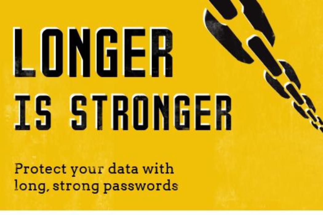 Protect your data with long, strong passwords