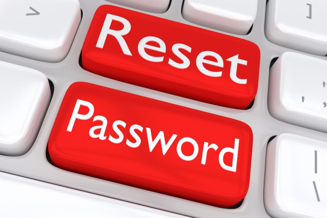 reset password on keyboard keys