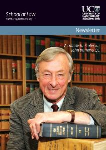 School of Law Newsletter 2007