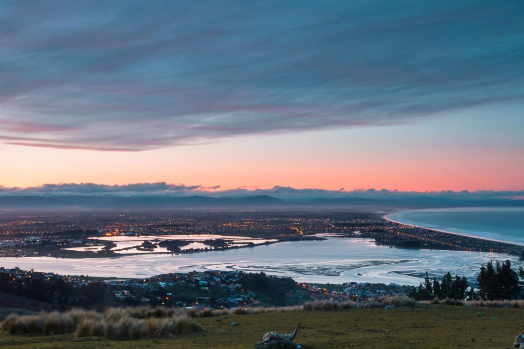 Sunset over Christchurch