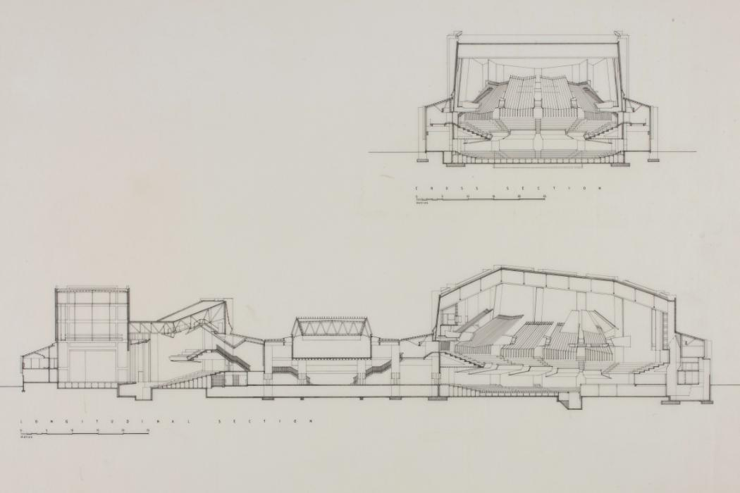 Christchurch Town Hall architectural drawing