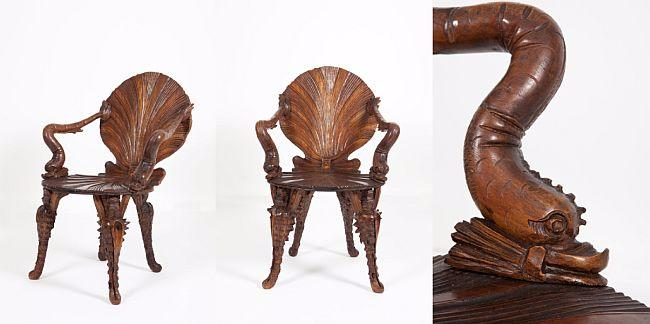 19th Century Venetian Grotto Chair