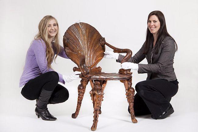 Student and Art Curator with the Grotto Chair