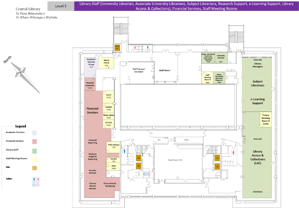Level 5 Central Library Floor Plan 2019