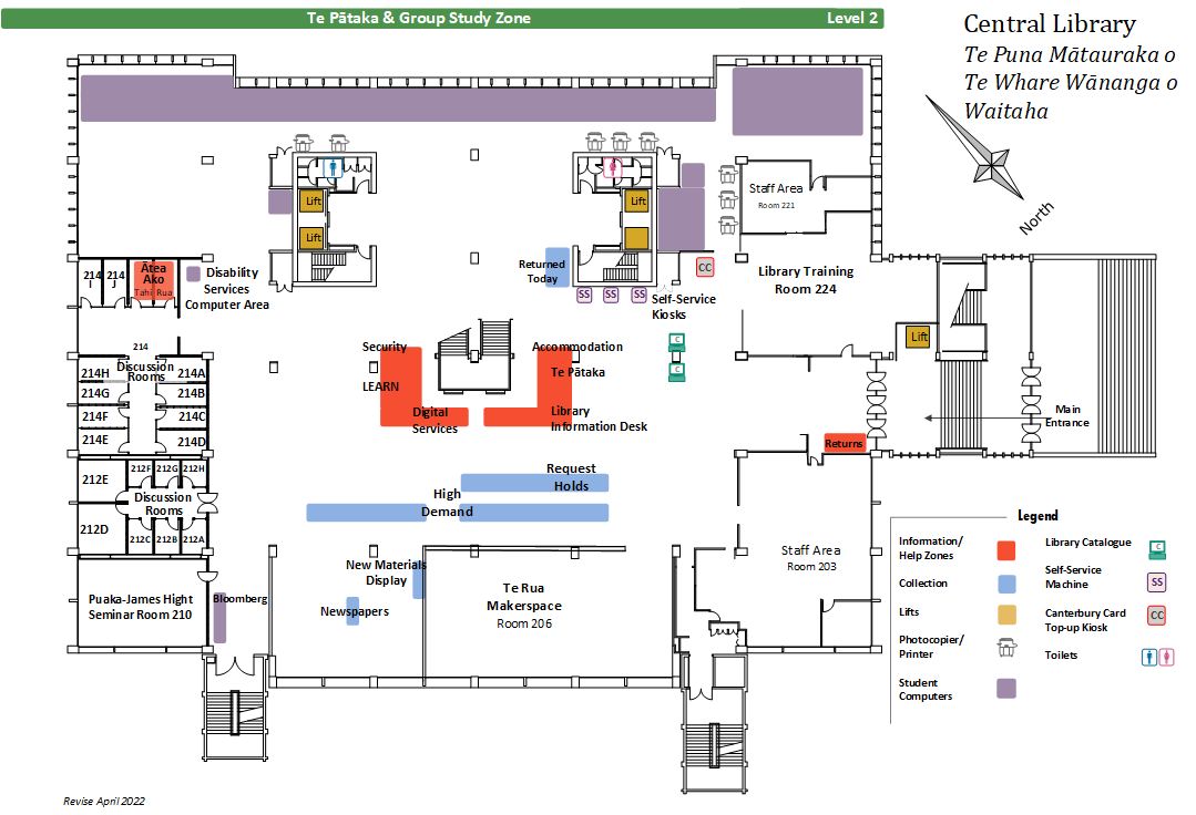 Central Library level 2 floor plan