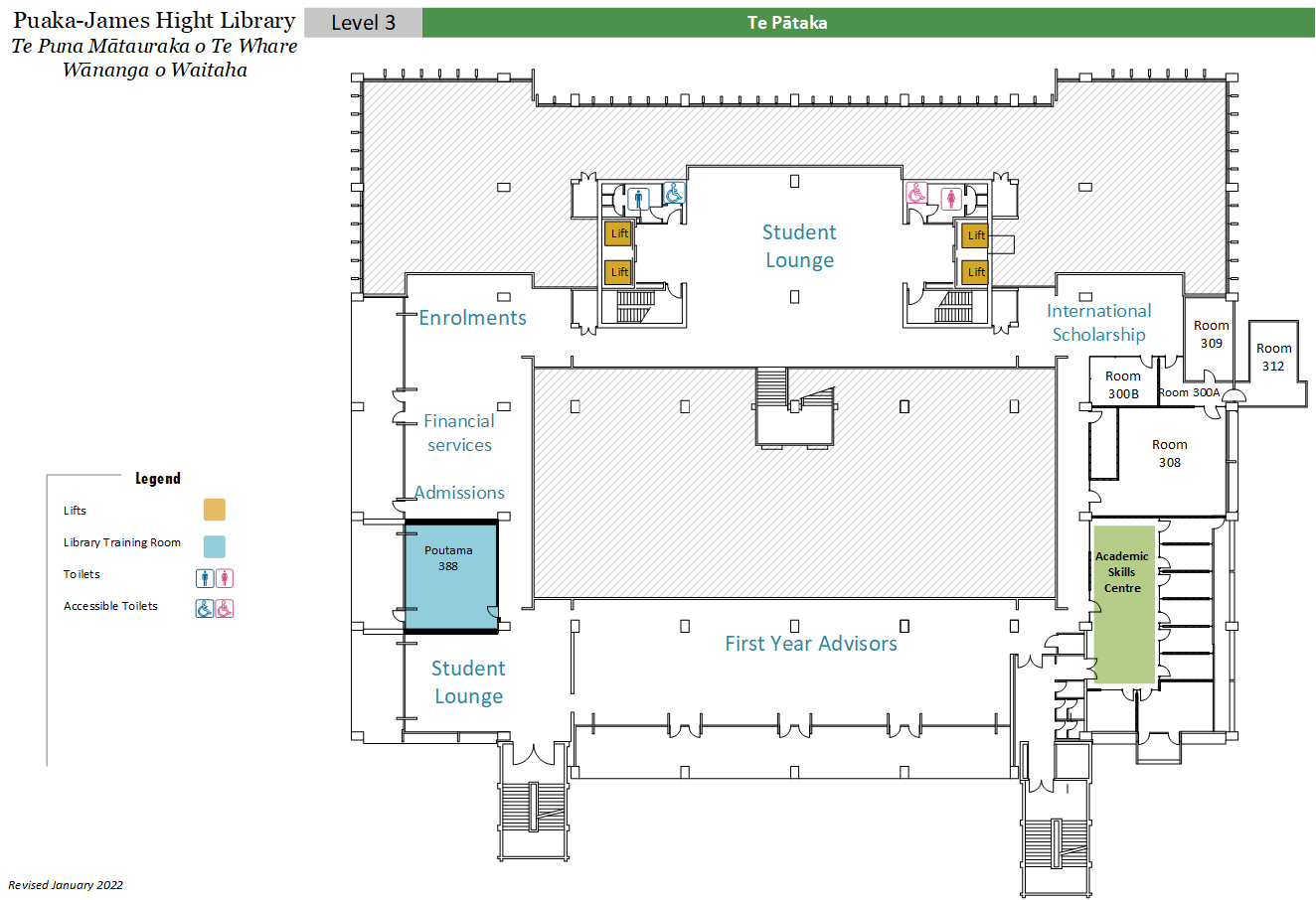 Central library level 3 floor plan