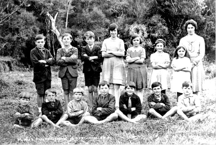 Waiho School pupils and teacher, Molly Williams