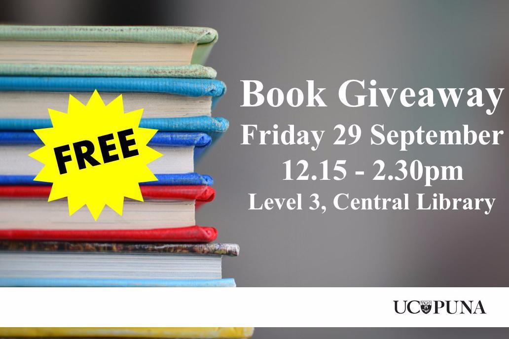 Book Giveaway 29 September