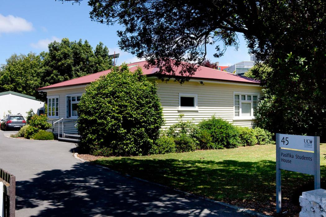 45 Creyke road, Pasifika students house entrance landscape