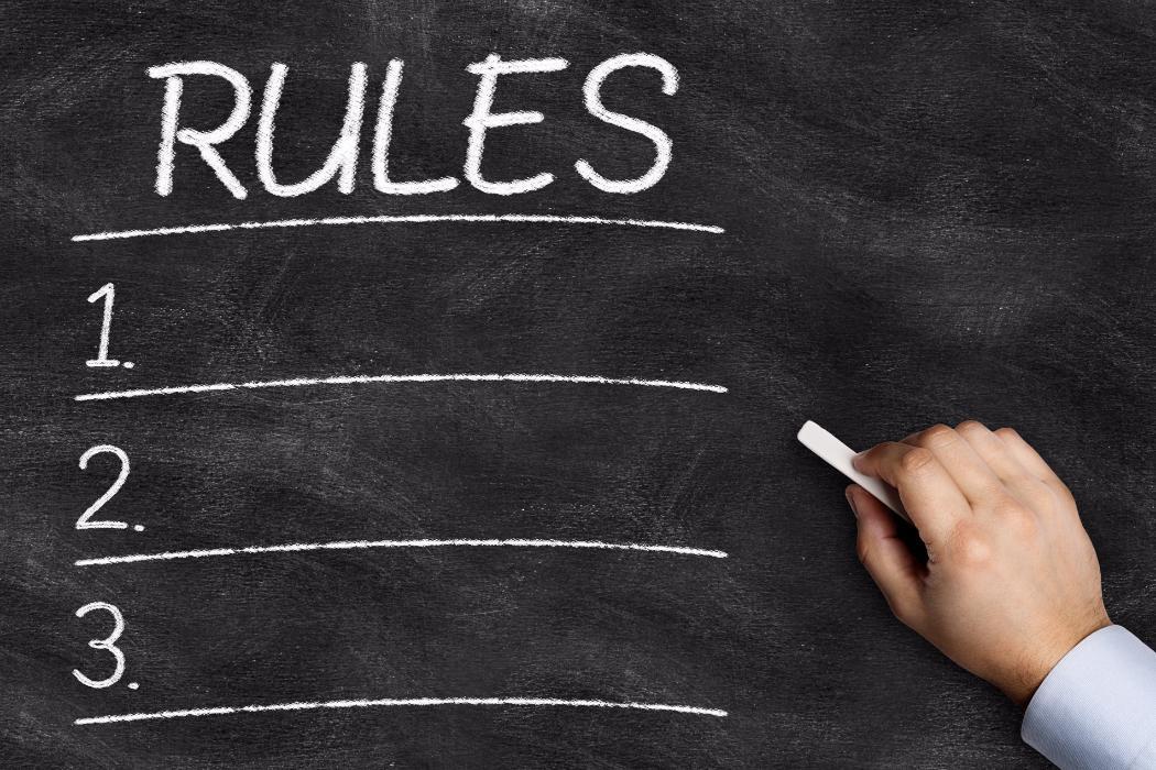 Rules list on blackboard
