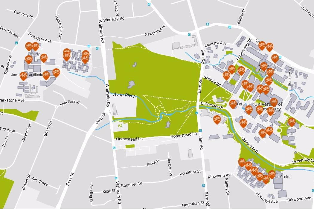 Bike parking map