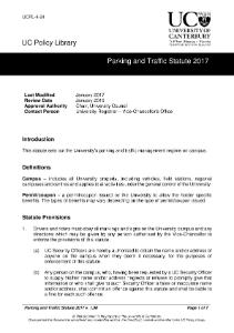 Parking and Traffic Statute 2017