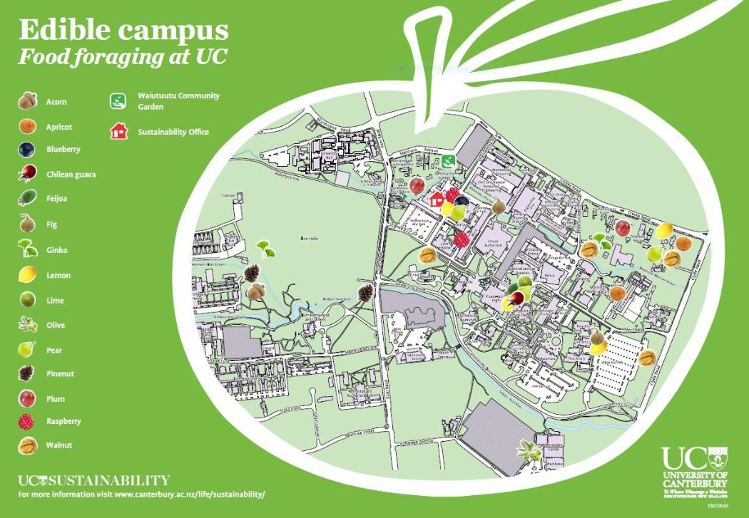 Edible campus map