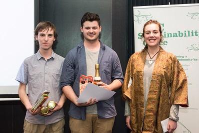 Ben Murton, Robbie Murray and Emily Parker