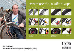 How to use the UC bike pumps