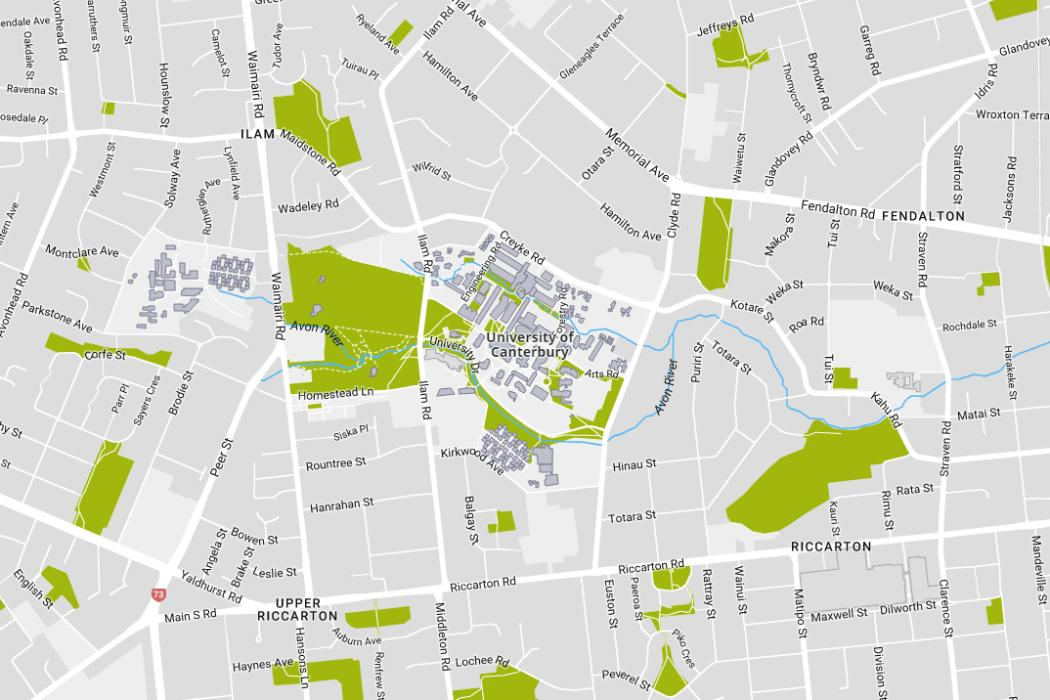 Campus Maps | University of Canterbury on