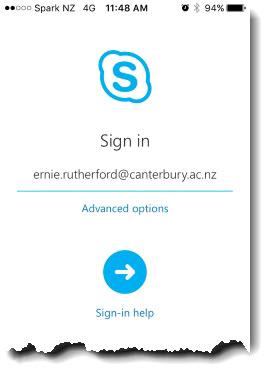 iOS login screen 1