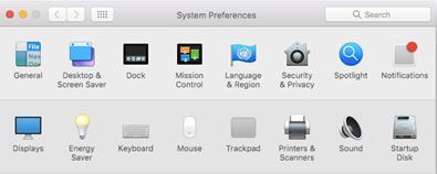 Printer configuration FollowYou System Preferences