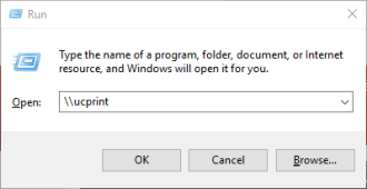 run command for windows print setup - other printers