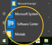 software centre on start menu