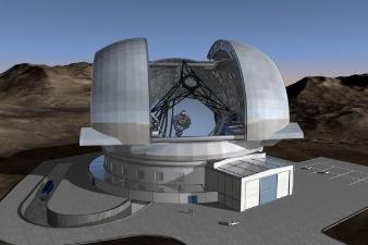 The European Extremely Large Telescope (copyright ESO).