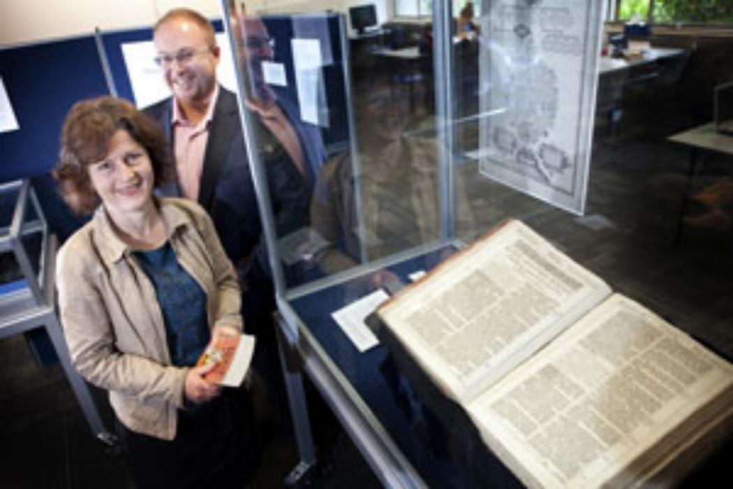 Influential bible exhibited at UC
