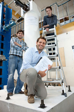 UC team leading bridge testing in ChCh