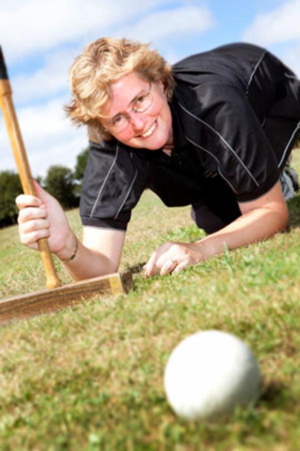 Sports researcher investigating swing skills