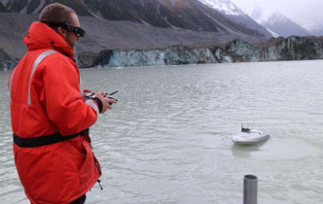 Cutting edge UC research at Tasman Glacier