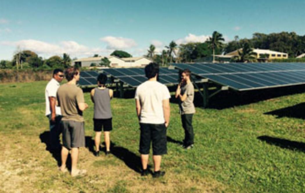 Students' renewable energy designs assist Tonga