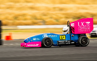 UC Motorsport team in electric race car first