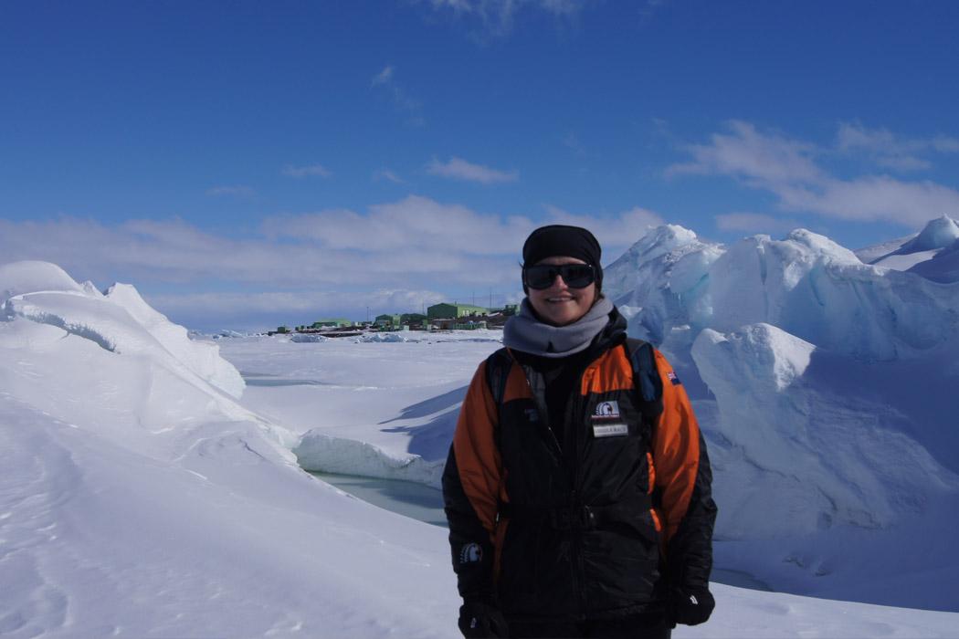 Ursula Rack in Antarctica
