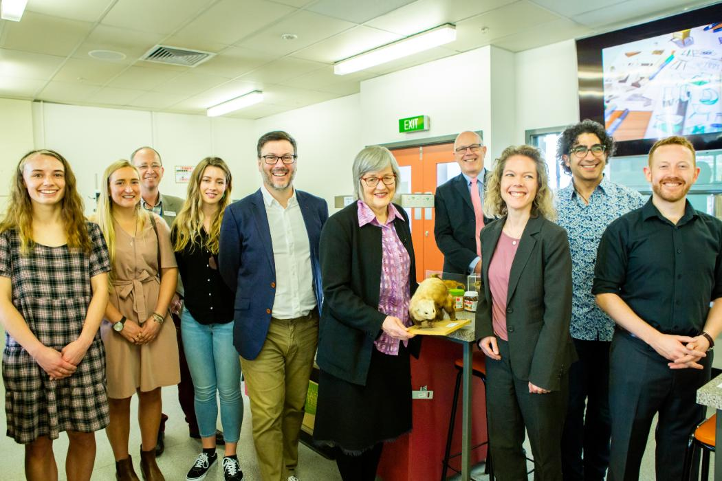 Minister Eugenie Sage, DOC and UC Research team