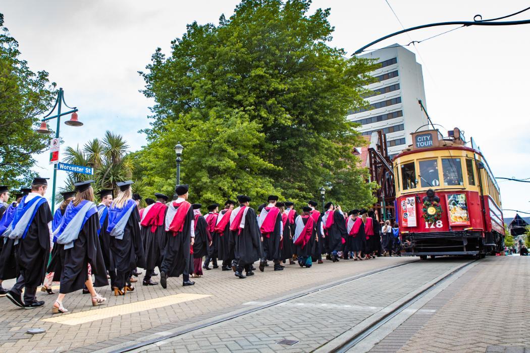 2019 UC Graduation procession