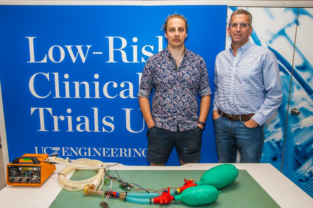 Group of UC engineers invent answer to global demand for ventilators amid Covid-19