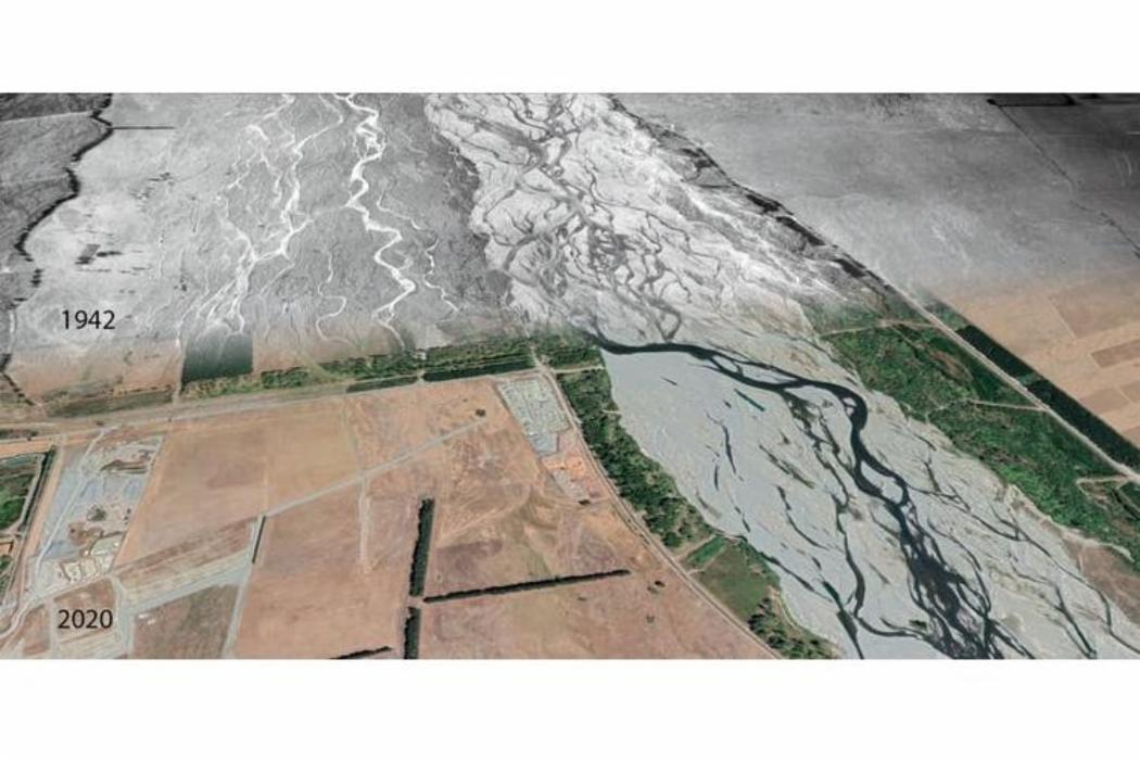 Changing flows of the Waimakariri river