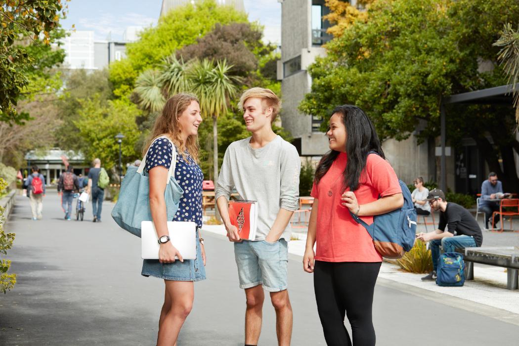 Three UC students on campus