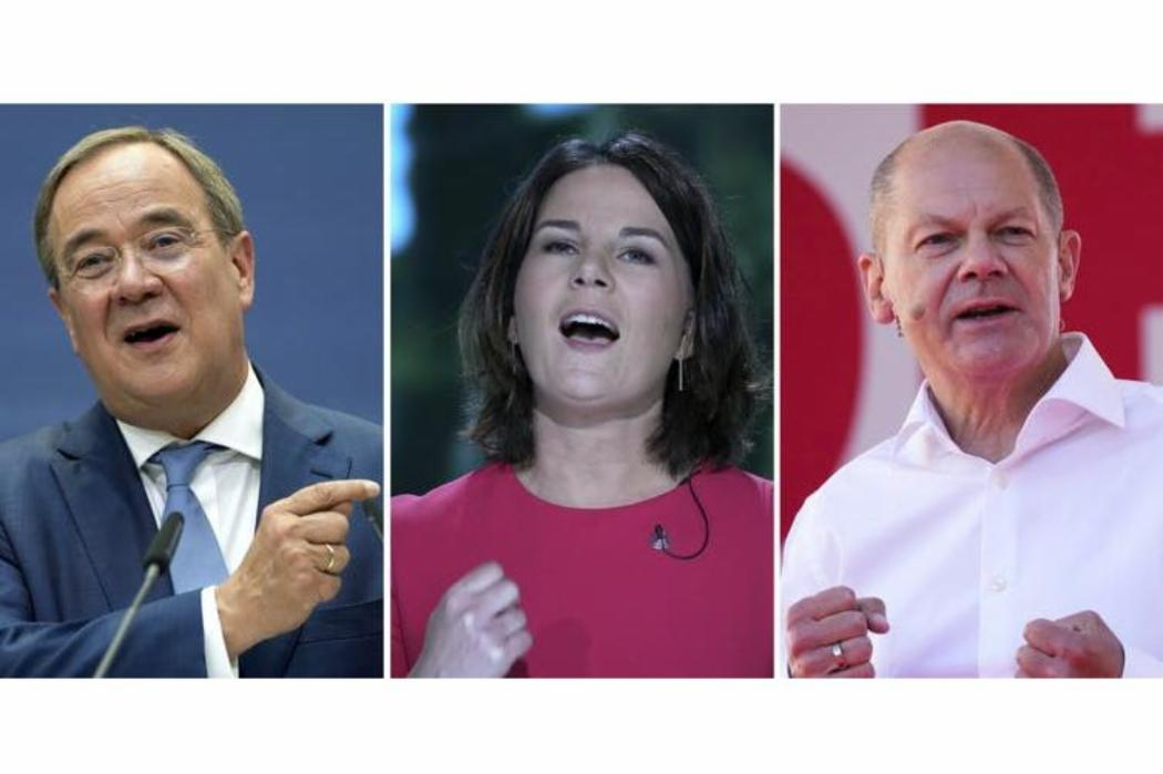 Main contenders for chancellor: Armin Laschet, Annalena Baerbock and Olaf Scholz
