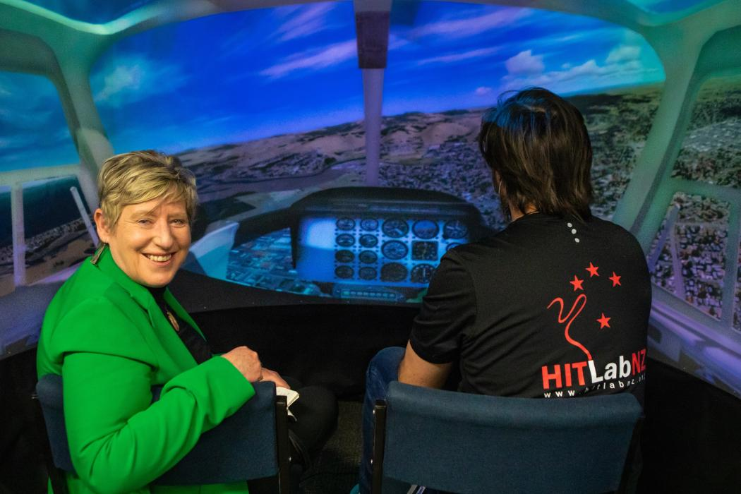 Mayor's visit to HIT Lab