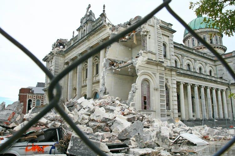 Christchurch's Catholic cathedral before its eventual demolition in 2020