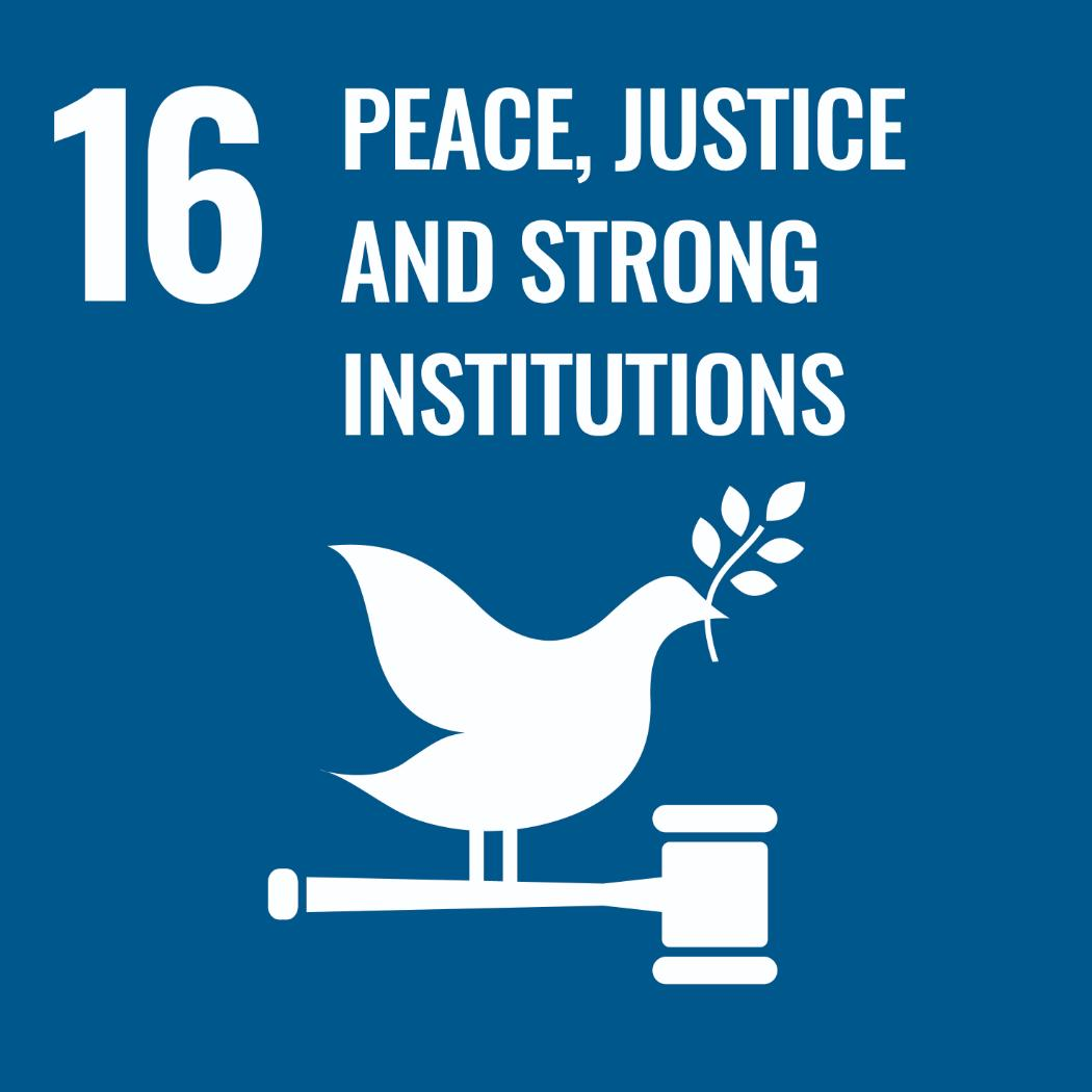 Sustainable Development Goals 16 - Peace, Justice, and strong institutions