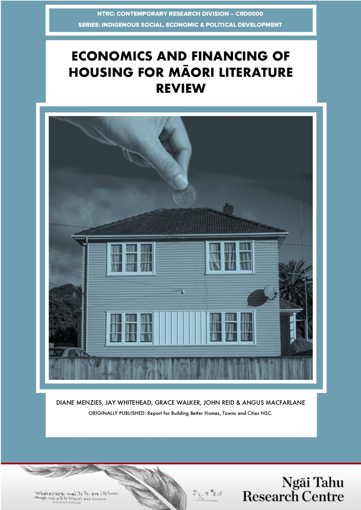 Economics and financing of housing for Māori literature review