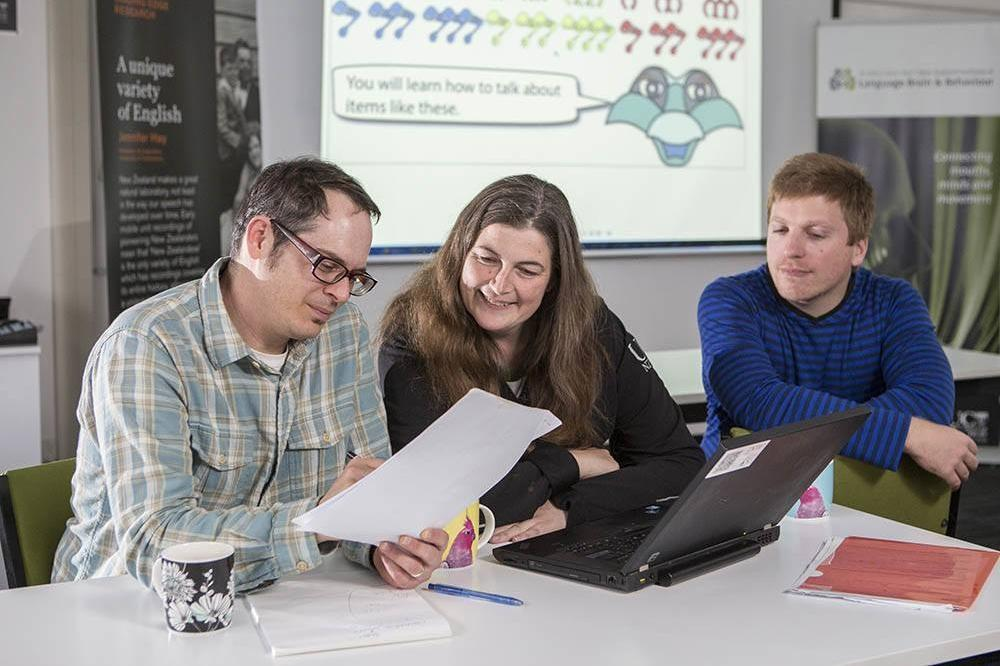 New Zealand Brain Research Institute staff working