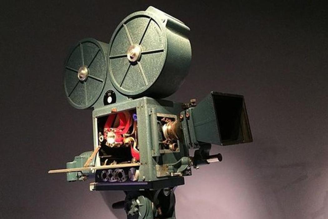Antique film projector