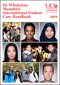 A comprehensive brochure on all aspects of study at UC and life in Christchurch for international students, including support services, kiwi culture, and accommodation.