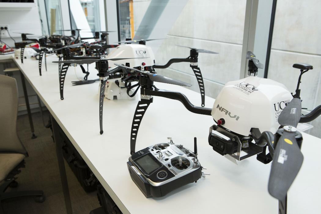 engineering fleet of drones on table